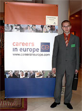 Vstup do prostorů Careers in Europe fóra