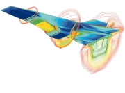 Rázové vlny v okolí hypersonického letounu - model CFD
