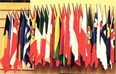 Vlajky 25 zemí v Evropské unii